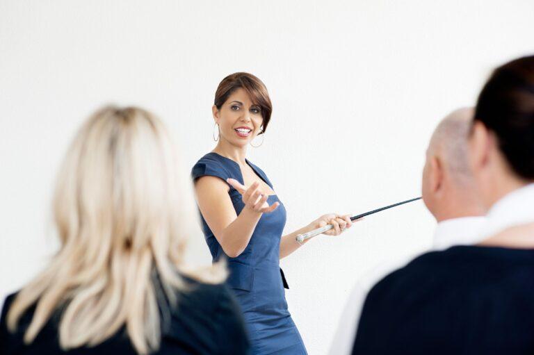 Tammy Hamawi leadership coaching a class