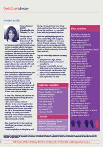Member Profile Tammy Hamawi Gold Coast Director magazine article